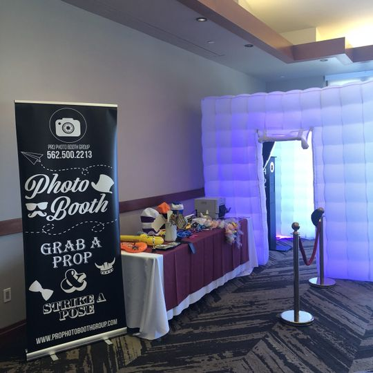 White inflatable photo booth
