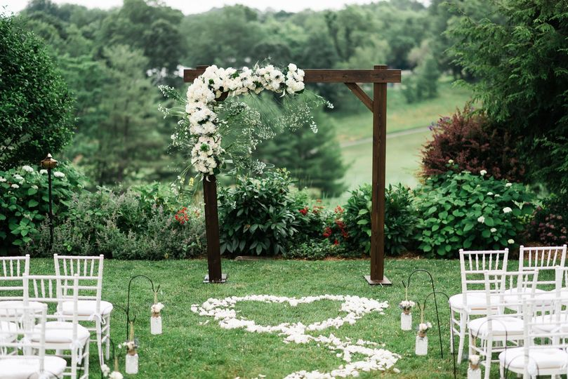 Wedding Arch floral aisle  photo by emilyvistaphotography-hudson valley