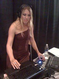 """DJ Celeste running sound and DJing the runway fashion event """"Fashion on the square"""" at the..."""