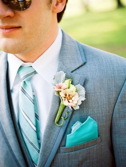Groom with corsage