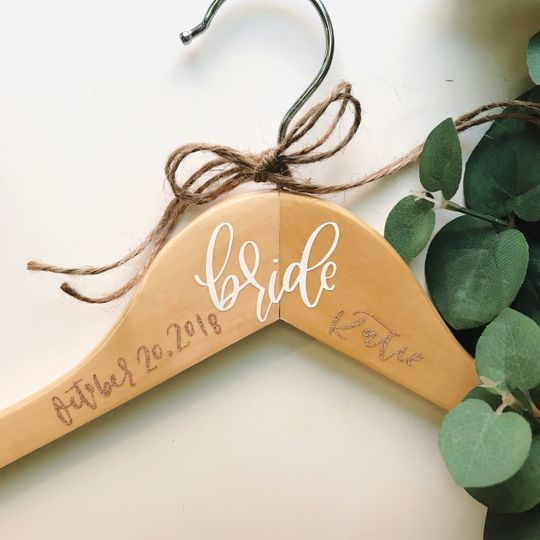 Custom bridal party hangers