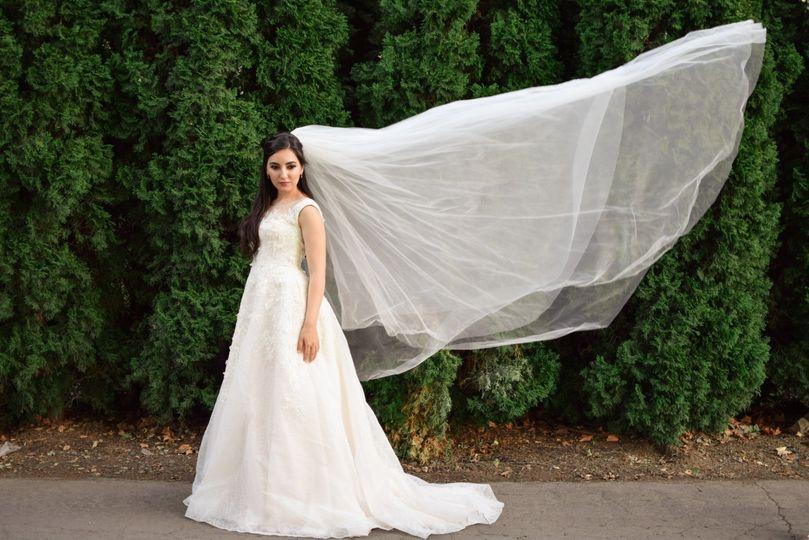 Bride in Napa