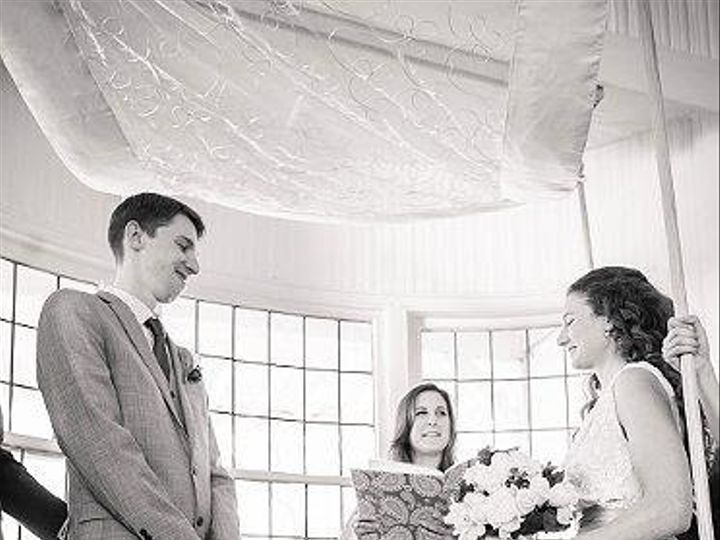 Tmx 1404699111128 Sarah And Matt Chuppah 2 Norwalk, New York wedding officiant