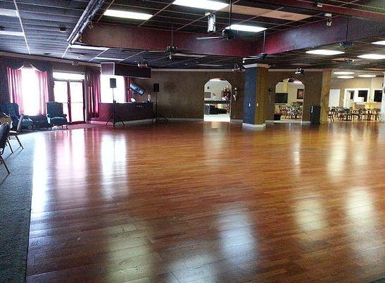 DJ booth and dance floor