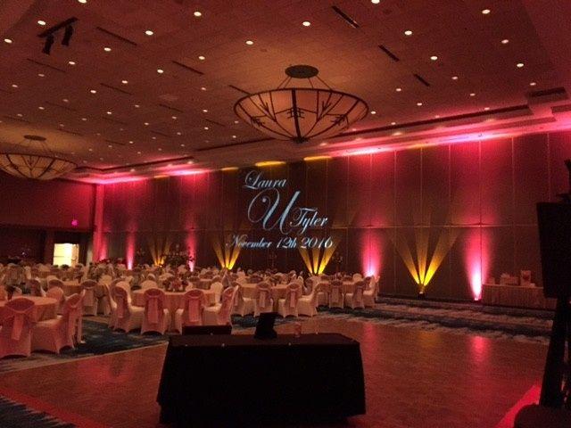 Velvet themed wedding event