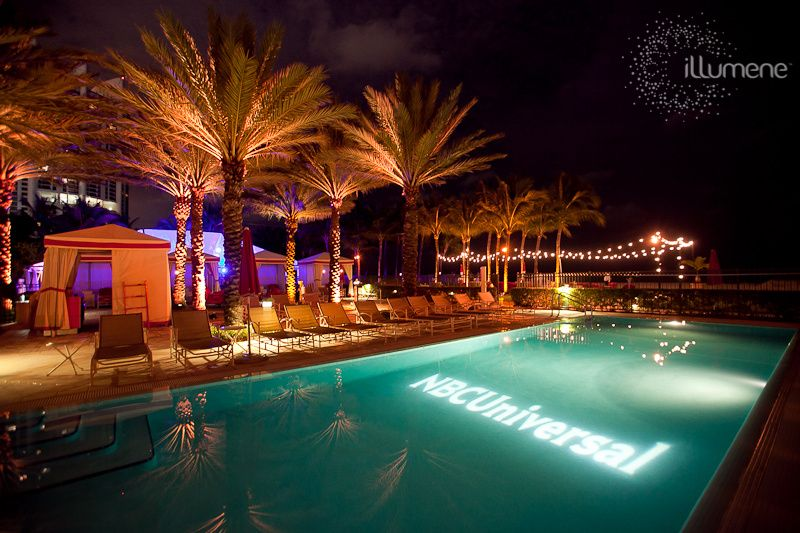 Pool gobo rental