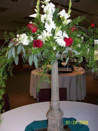 Tall floral centerpiece
