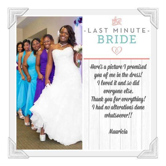 The last minute bride dress attire vacaville ca for Last minute wedding dress