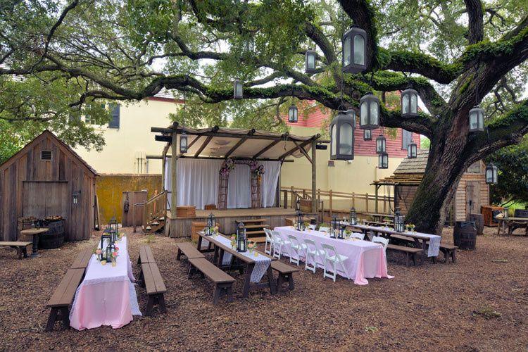 Outdoor long table setup