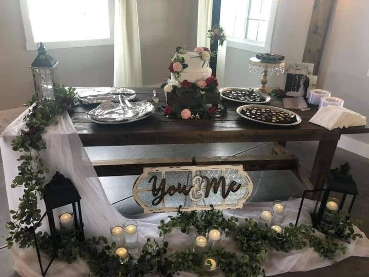 You and me cake table