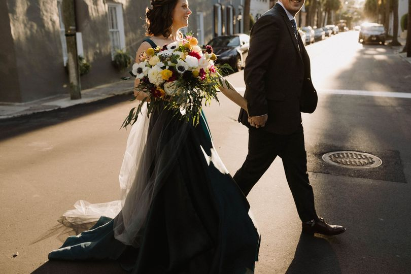Couple in downtown Charleston