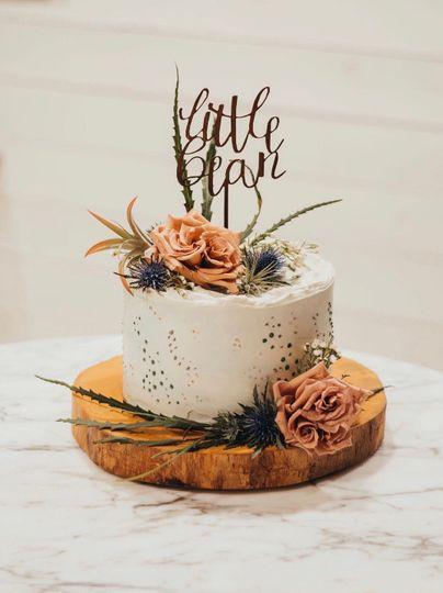 Custom gender reveal cake