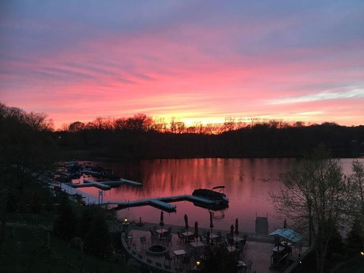 Sunset over the Portage Lakes