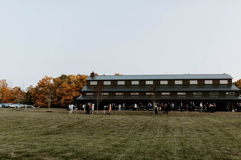 The barn during the fall