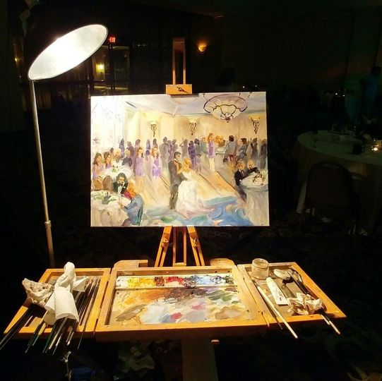 Nearly finished live painting - same night!