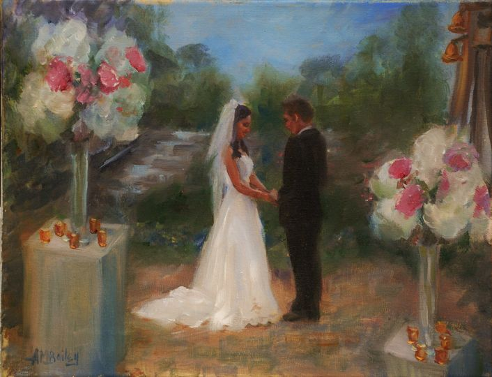 After-Event painting of a wedding ceremony, Buckhead, Atlanta Georgia. The client wanted the...