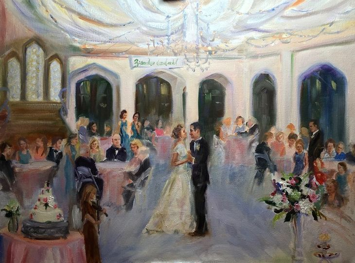First Dance, painted live at Callenwolde