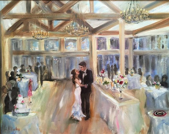 Painter Brentwood Wedding Reception Picturesque Memory Www