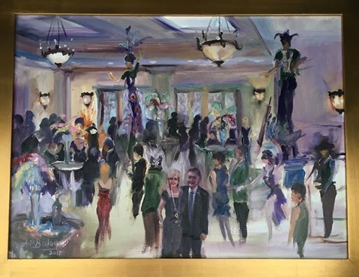 Roswell Mardi Gras Ball Live Event Painting