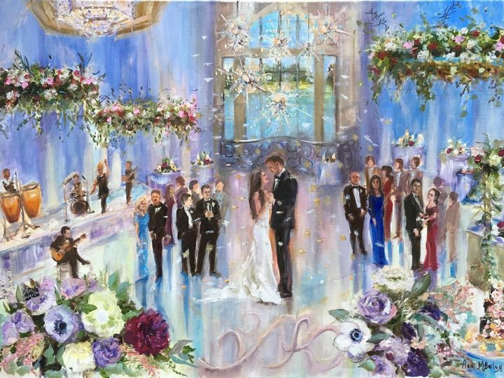 Tmx First Dance Live Wedding Painting By Ann Bailey Of Veronica And Kyle At Four Seasons Orlando 51 928311 158882515363996 Roswell, GA wedding favor