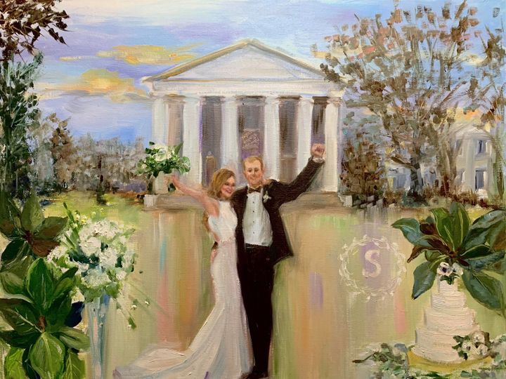 Tmx Just Said I Do Live Wedding Painting By Ann Bailey At Uga Campus Wedding Of Cate And Sammy 51 928311 158882498287121 Roswell, GA wedding favor