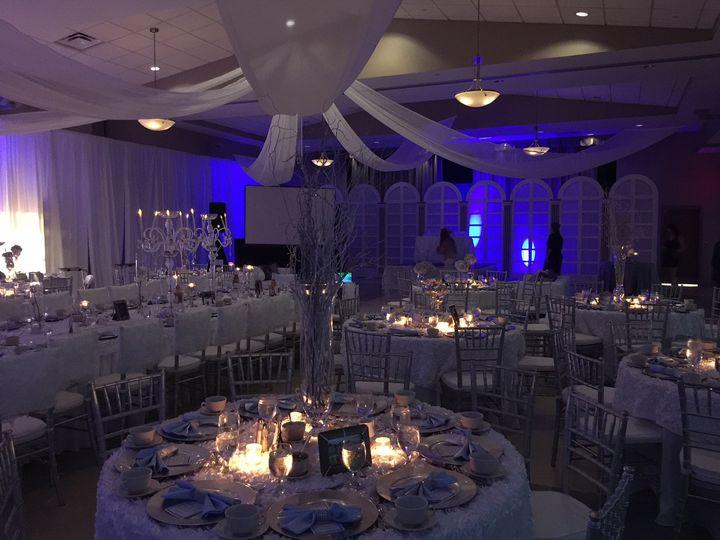 All white reception design