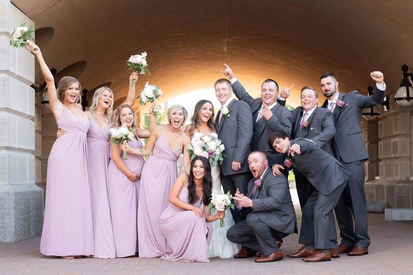 A joyful wedding party