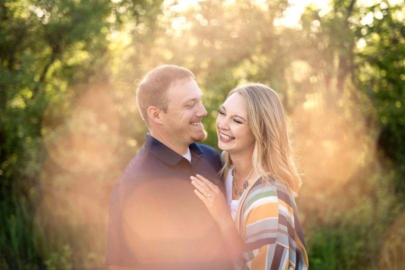 Sunny engagement portrait