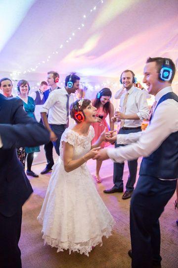 Silent disco wedding reception