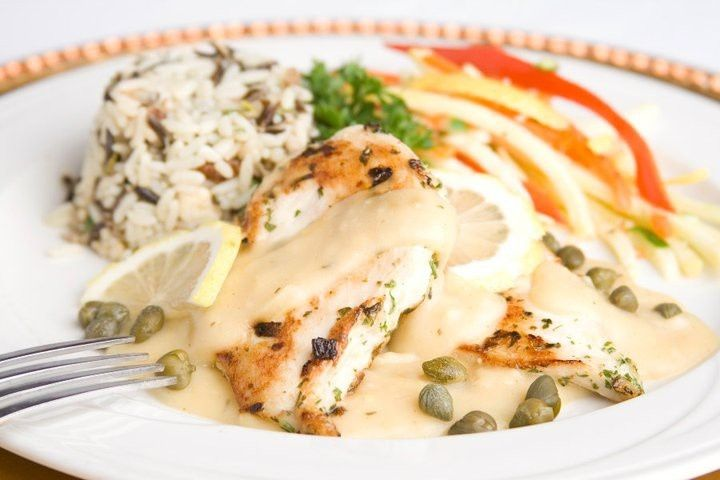 Chicken Piccata with Wild Rice & Veggies