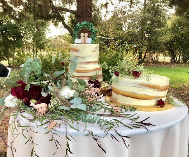 Dreamy woodland cake