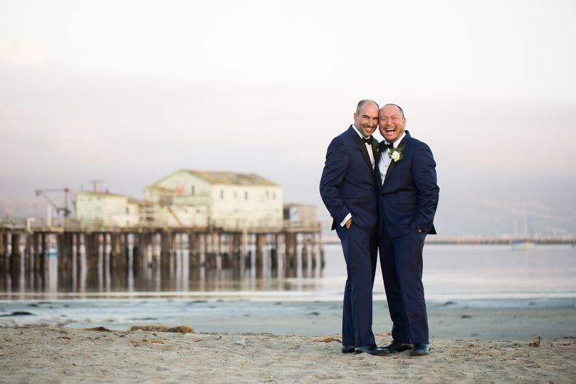 Ocean front wedding