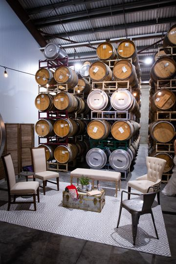 Barrel room bridal suite