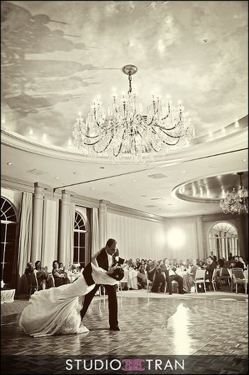 Inside the ballroom.