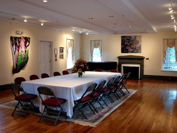Main floor Gallery - rental includes use of lobby, brick courtyard and garden plaza