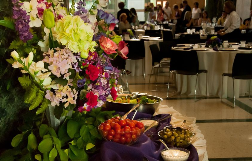 The wedding reception catering