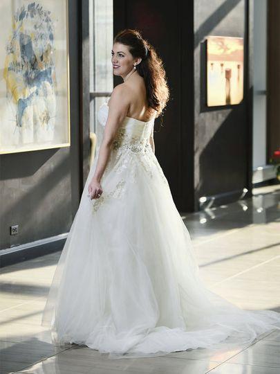 Bride looking side view