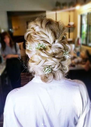 Beautiful elegant hairdo