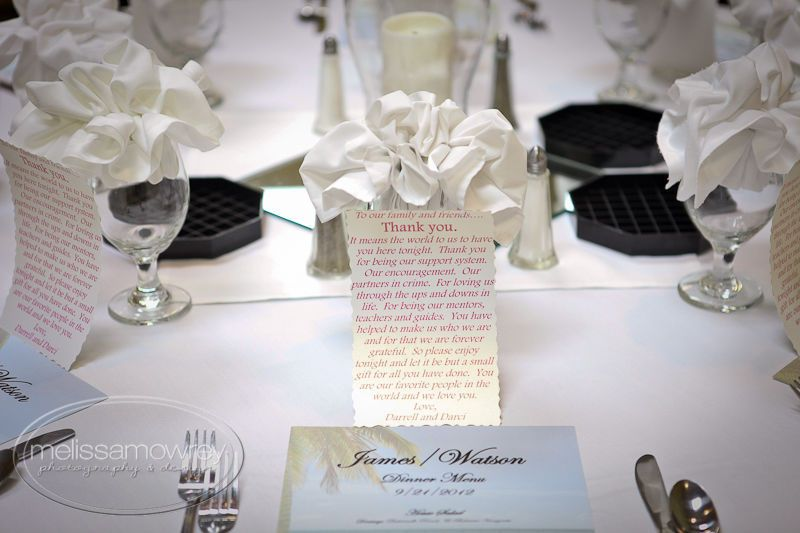 The table cards