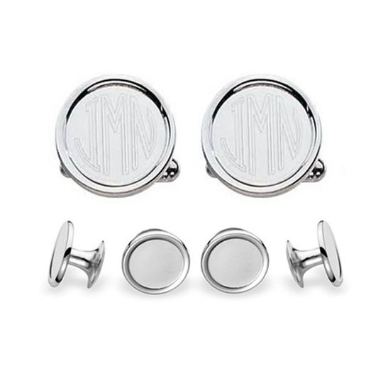 Engravable Silver Stud Set