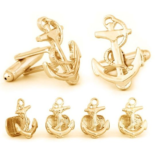 Gold Finish Anchor Stud Set