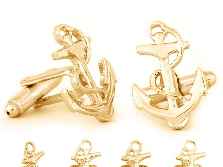 Tmx Gold Finish Anchor Stud Set 51 1068411 1562561070 Windermere, FL wedding dress