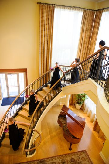 Grand Staircase in our Piano Lounge