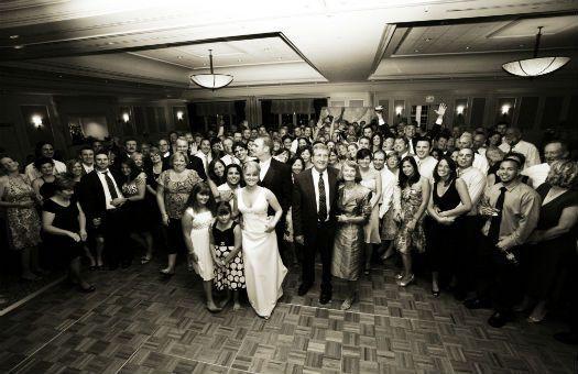 Devens Common Center wedding shot