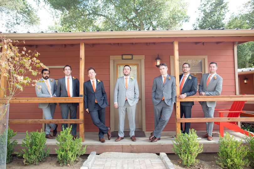 Groom with the groomsmen