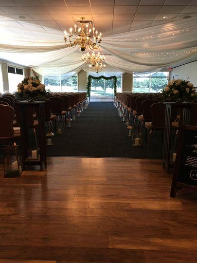 An indoor ceremony