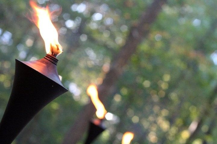 torches ablaze