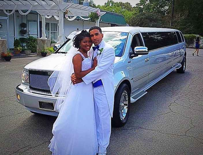 Couple with the limo
