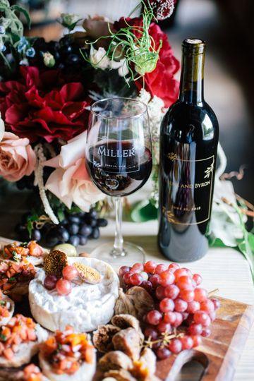 Wine tasting wedding
