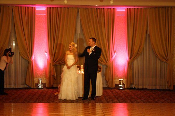 Turning Stone Casion Shenendoah Clubhouse uplighting Syracuse Utica wedding DJ Black Tie...